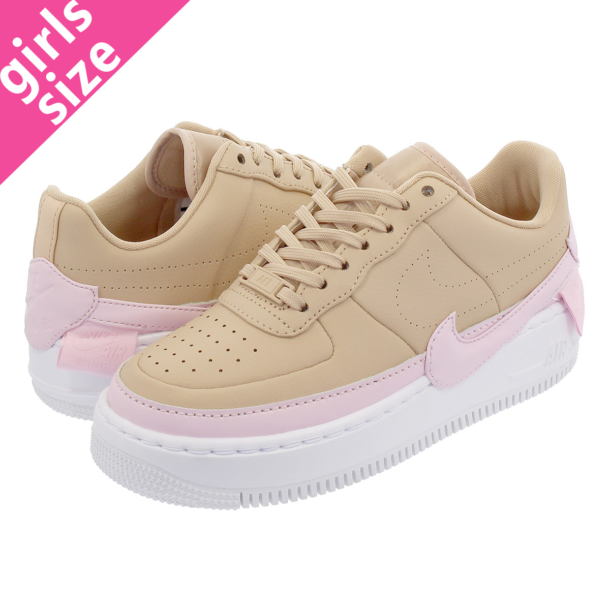 best service 549f3 578f8 NIKE WMNS AIR FORCE 1 JESTER XX Nike women air force 1 Jester XX BIO  BEIGE/PINK FORCE/WHITE ao1220-202