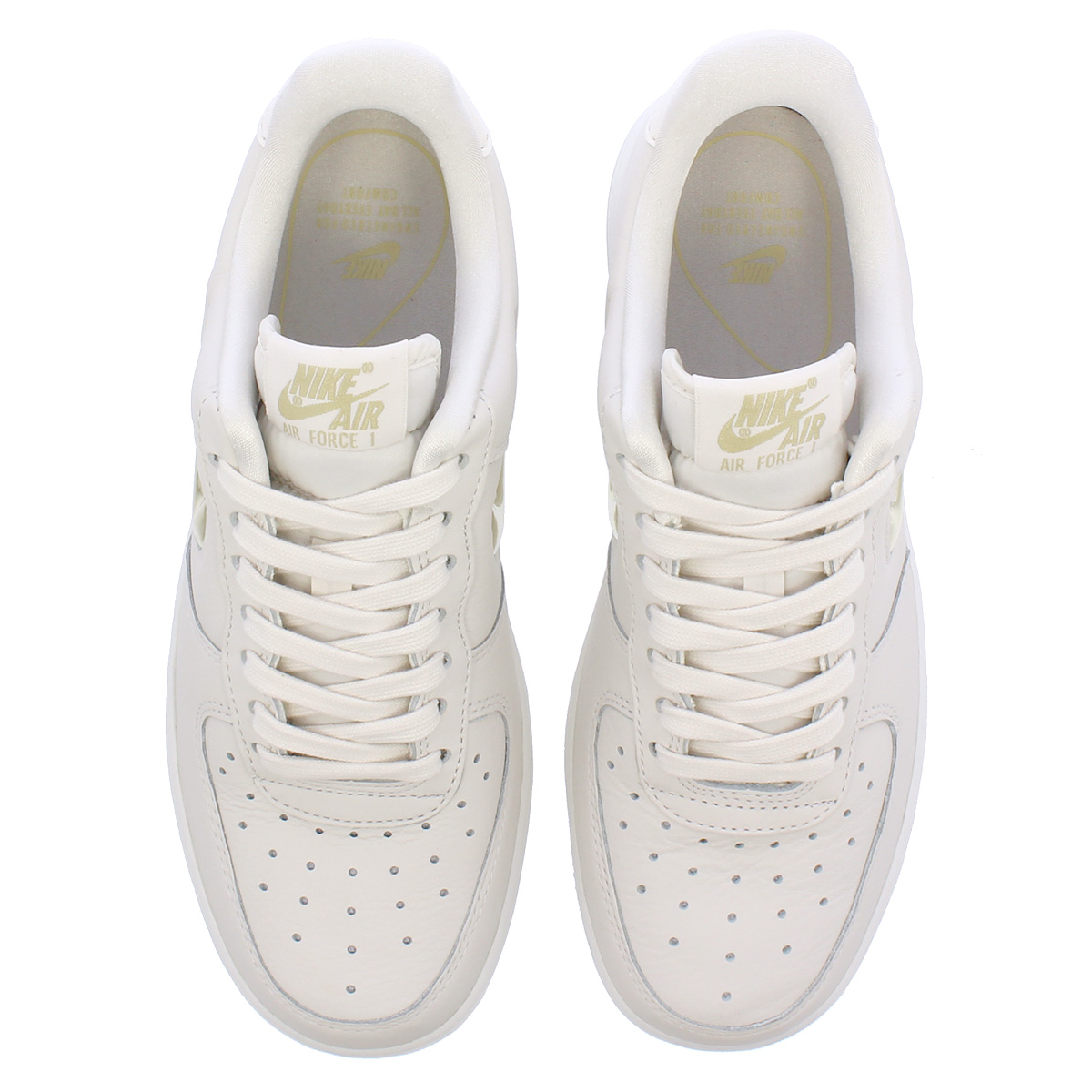 NIKE WMNS AIR FORCE 1 '07 PRM LX Nike women air force 1 07 premium LX PHANTOMGOLDWHITE ao3814 001