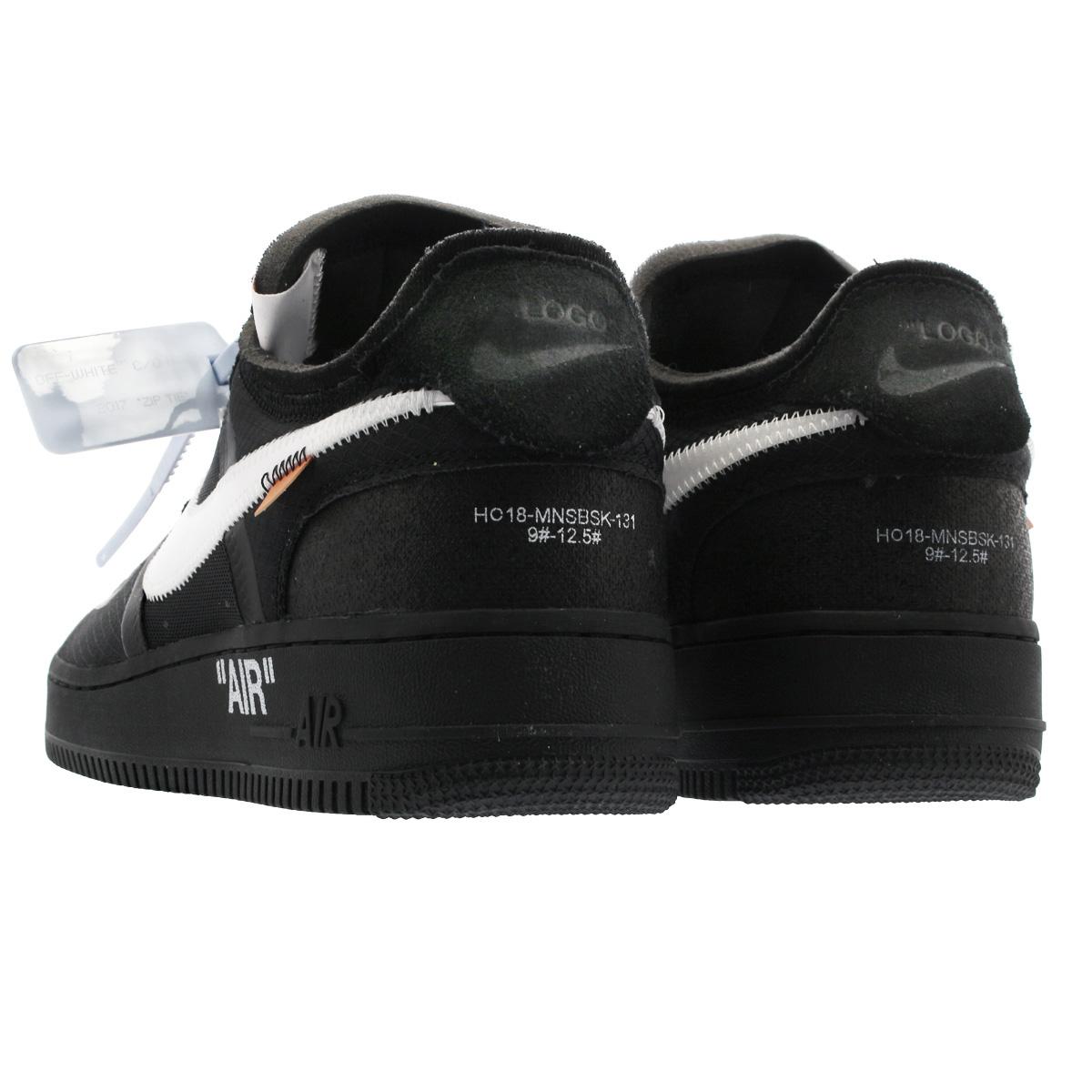 Off White x Nike Air Force 1 Low 'BlackWhite' AO4606 001