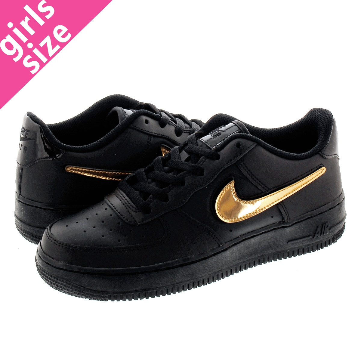 NIKE AIR FORCE 1 LV8 3 GS Nike air force 1 LV8 3 GS BLACKBLACKWHITE ar7446 001
