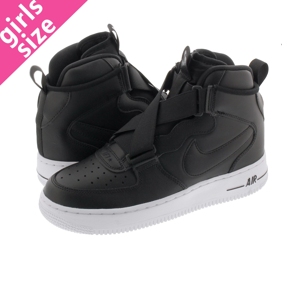 NIKE AIR FORCE 1 HIGHNESS GS ナイキ エア フォース 1 ハイネス GS BLACK/BLACK/WHITE bq3598-001