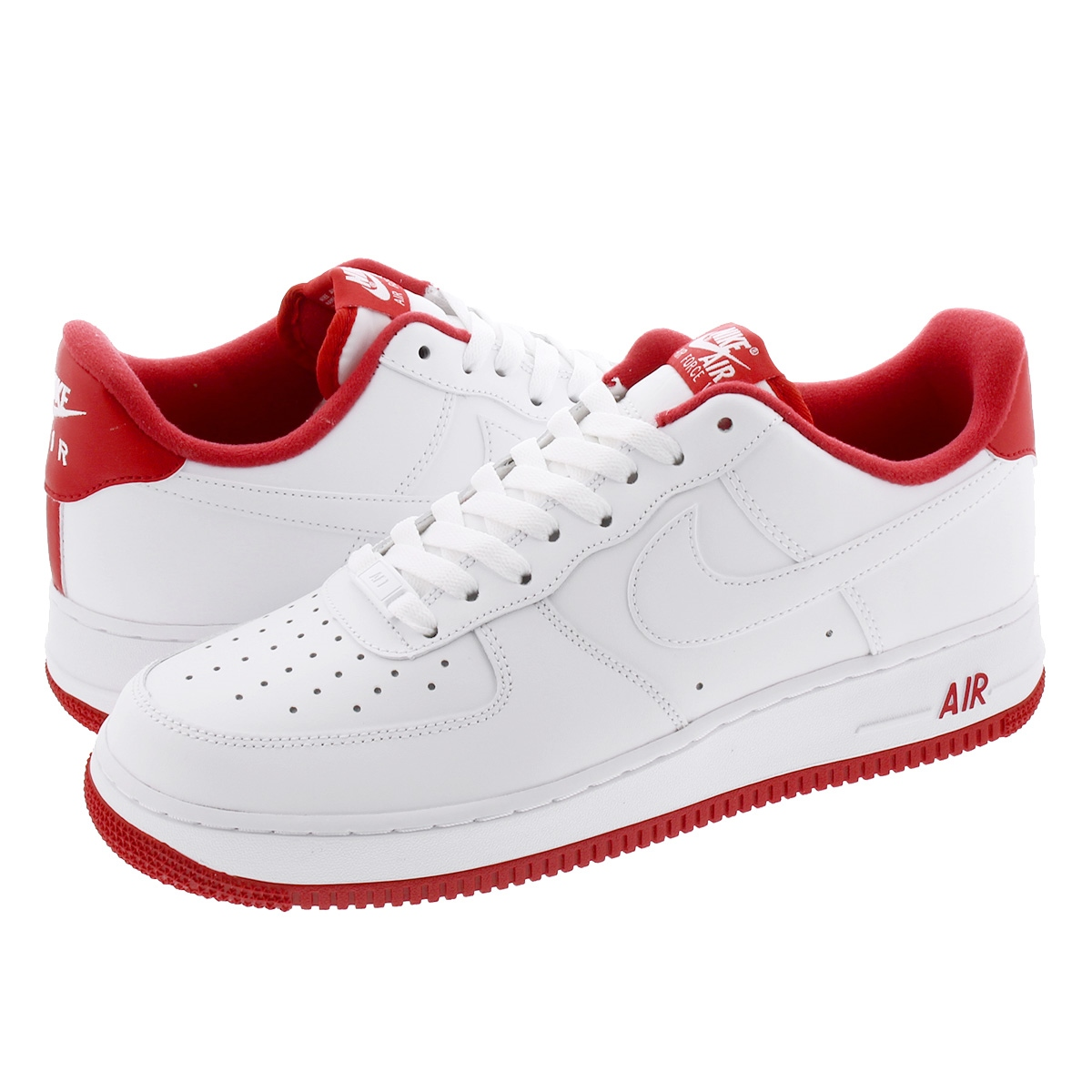 NIKE AIR FORCE 1 '07 1 Nike air force 1 07 1 WHITEUNIVERSITY RED cd0884 101
