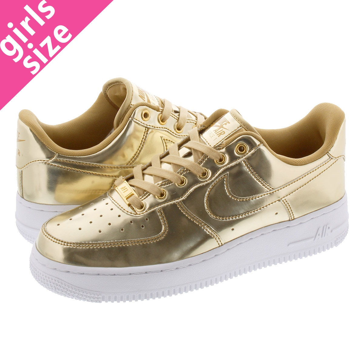 NIKE WMNS AIR FORCE 1 SP ナイキ ウィメンズ エアフォース 1 SP METALLIC GOLD/CLUB GOLD/WHITE cq6566-700