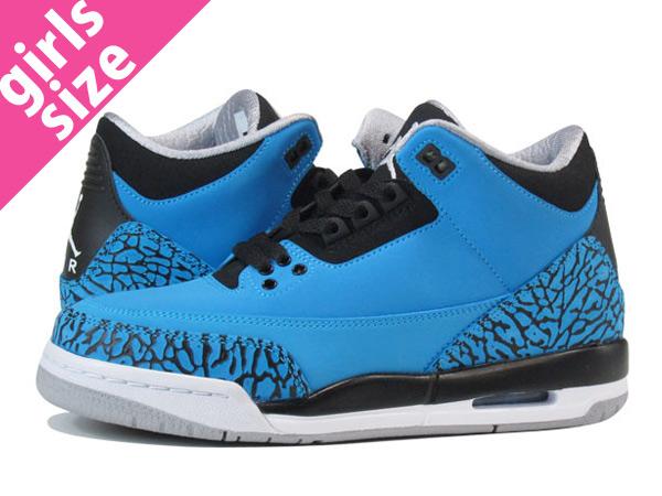 designer fashion a9b27 60cfc NIKE AIR JORDAN 3 RETRO GS Nike Air Jordan 3 nostalgic GS BLUE BLACK WHITE  398,614-406