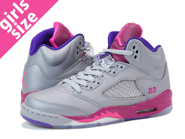 air jordan retro 5 pink grey