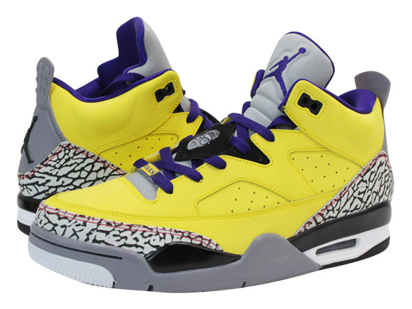NIKE JORDAN SON OF LOW Nike Jordan サンオブ row TOUR YELLOW/GRAPE ICE