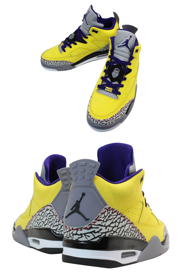 NIKE JORDAN SON OF LOW Nike Jordan サンオブ row TOUR YELLOW/GRAPE ICE