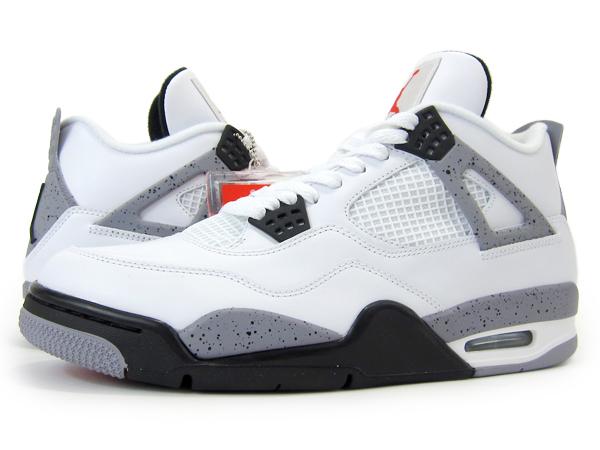 7a25a1c5ee0 NIKE AIR JORDAN 4 RETRO Nike year Jordan 4 retro WHITE BLACK-CEMENT GREY