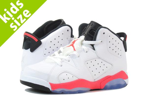 91b05c436ab LOWTEX BIG-SMALL SHOP: AIR JORDAN 6 RETRO PS Nike Air Jordan 6 retro PS  WHITE/INFRA RED   Rakuten Global Market
