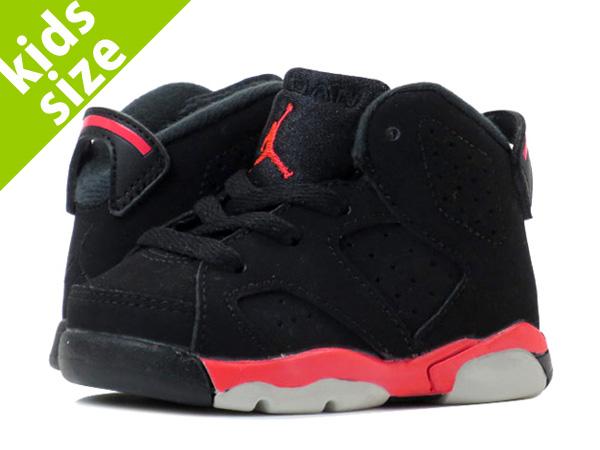 945c6137c08 NIKE AIR JORDAN 6 RETRO TD Nike Air Jordan 6 nostalgic TD BLACK/INFRARED  384,667 ...