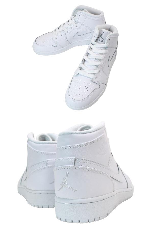 NIKE AIR JORDAN1 MID Nike Air Jordan 1 mid WHITE/WHITE