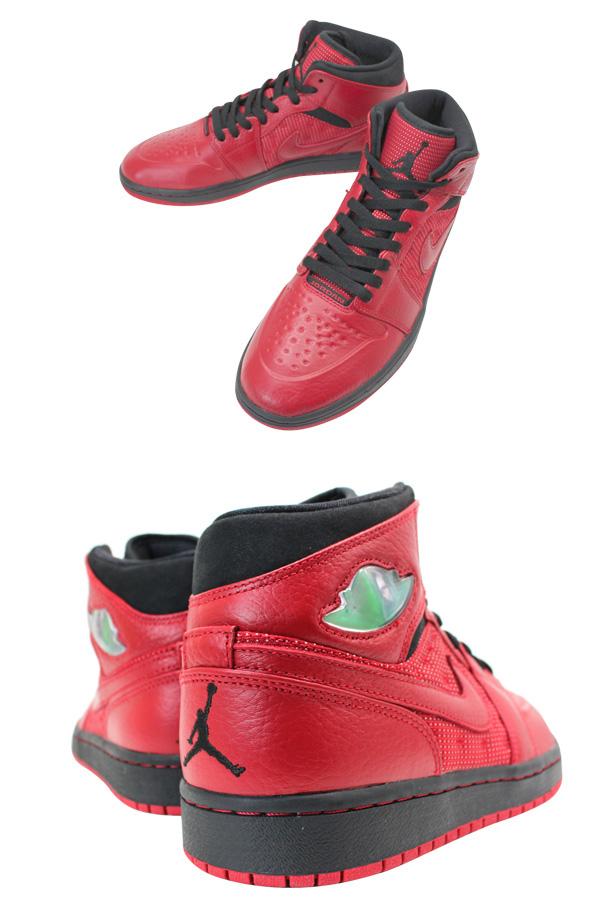 NIKE AIR JORDAN1 RETRO HI 97 TXT Nike air Jordan 1 nostalgic high 97 textile mid G.RED/BLACK
