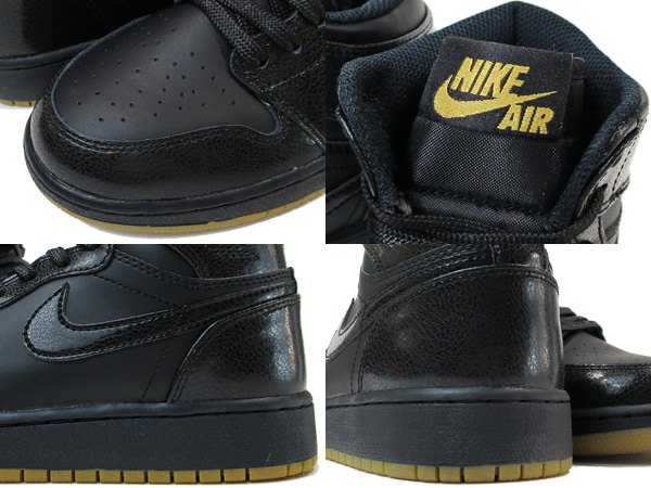 8c4b3a7eec6614 NIKE AIR JORDAN 1 RETRO HIGH OG GS Nike Air Jordan 1 nostalgic high OG GS  BLACK BLACK GUM 575