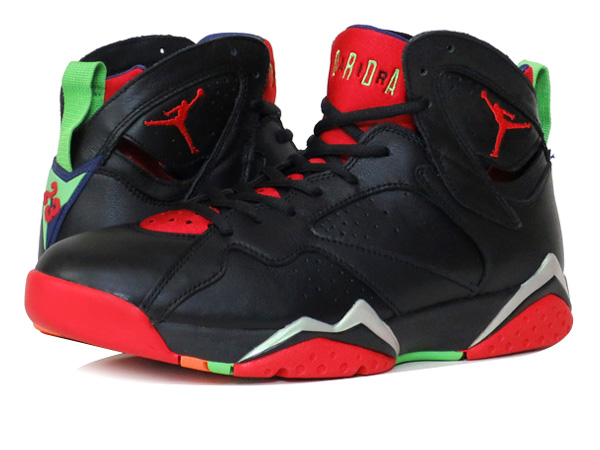 reputable site ea8dc cd7c1 NIKE AIR JORDAN 7 RETRO Nike Air Jordan 7 retro BLACK UNIVERSITY RED GREEN  ...