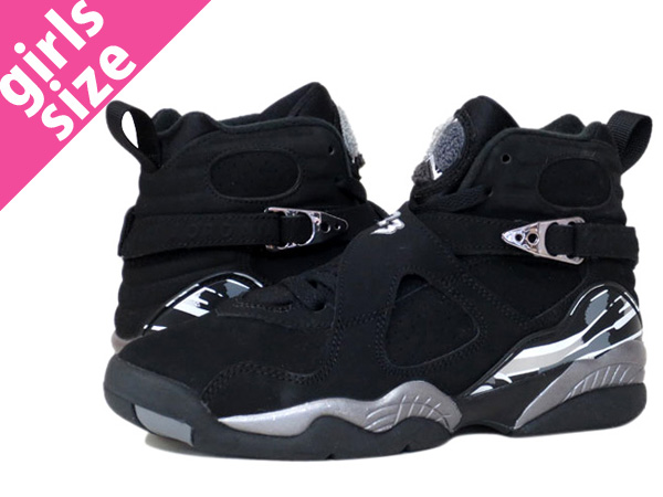 quality design bc850 fffdb NIKE AIR JORDAN 8 RETRO GS Nike Air Jordan 8 nostalgic GS BLACK/CHROME  305,368-003
