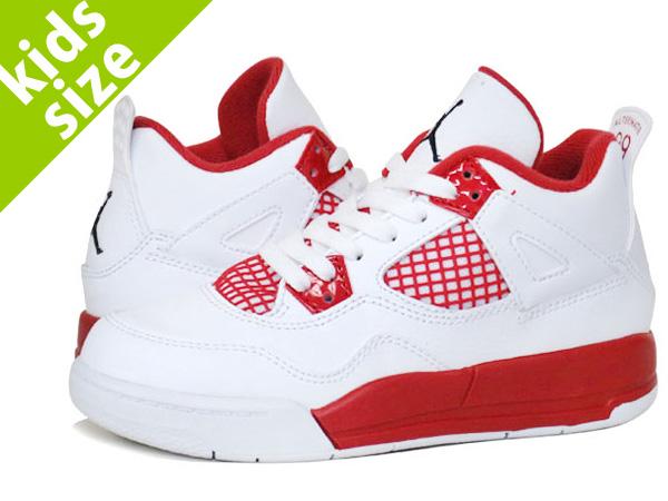 c77d699cd04 LOWTEX BIG-SMALL SHOP  NIKE AIR JORDAN 4 RETRO BP Nike Air Jordan 4 retro  BP WHITE BLACK GYM RED