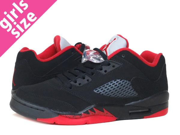 reputable site 79279 c856d NIKE AIR JORDAN 5 RETRO LOW GS Nike Air Jordan 5 nostalgic low GS BLACK GYM  RED METALLIC HEMATITE 314,338-001