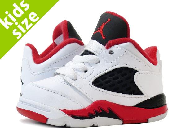 NIKE AIR JORDAN 5 RETRO LOW TD Nike Air Jordan 5 nostalgic low TD WHITE FIRE  RED BLACK 22d7928e0