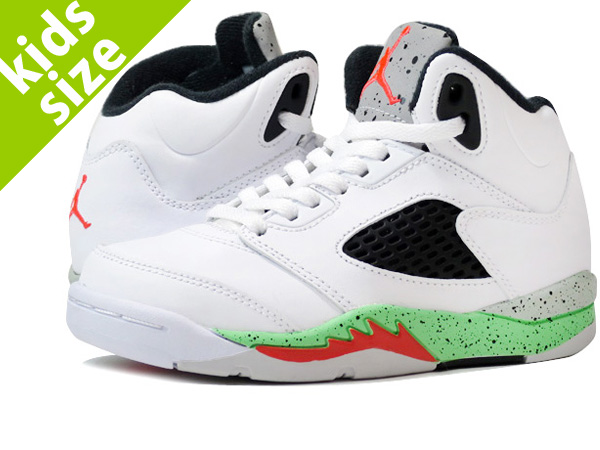 57788f81e91 NIKE AIR JORDAN 5 RETRO PS Nike Air Jordan 5 retro WHITE/INFRARED PS 23 ...
