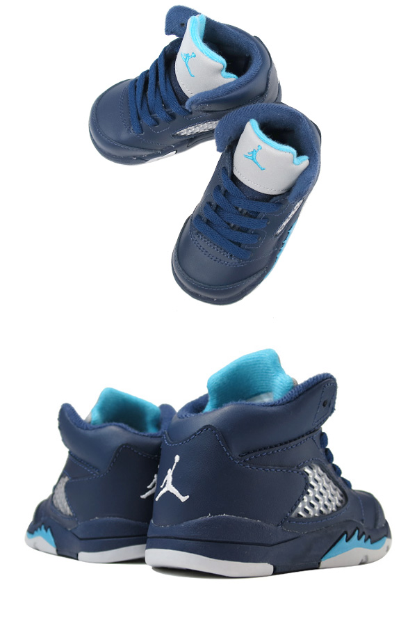 NIKE AIR JORDAN 5 RETRO TD Nike Air Jordan 5 retro TD MIDNIGHT NAVY TURQUOISE  BLUE WHITE 5c8ffb57e