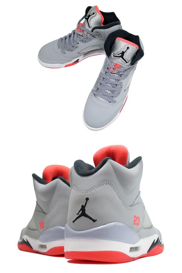 huge selection of b71ca 422c3 NIKE AIR JORDAN 5 RETRO GS Nike Air Jordan 5 nostalgic GS WOLF GREY BLACK HOT  LAVA WHITE 440,892-018