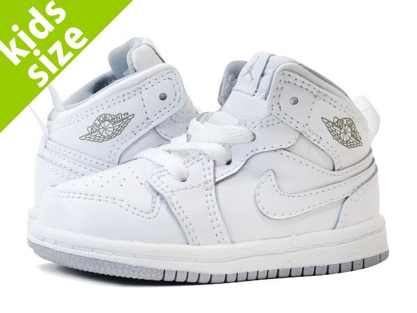 buy online e4f50 92684 NIKE AIR JORDAN 1 MID TD Nike Air Jordan 1 mid TD WHITE/WOLF GREY