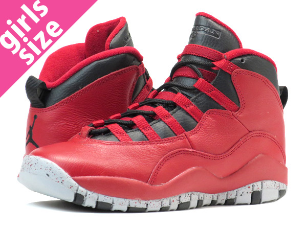 new style b9615 53c9e NIKE AIR JORDAN 10 RETRO 30TH BG Nike Air Jordan 10 nostalgic 30TH BG GYM  RED ...