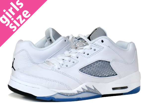 NIKE AIR JORDAN 5 RETRO LOW GG耐克空气乔丹5重新流行低GG WHITE/BLACK/GREY