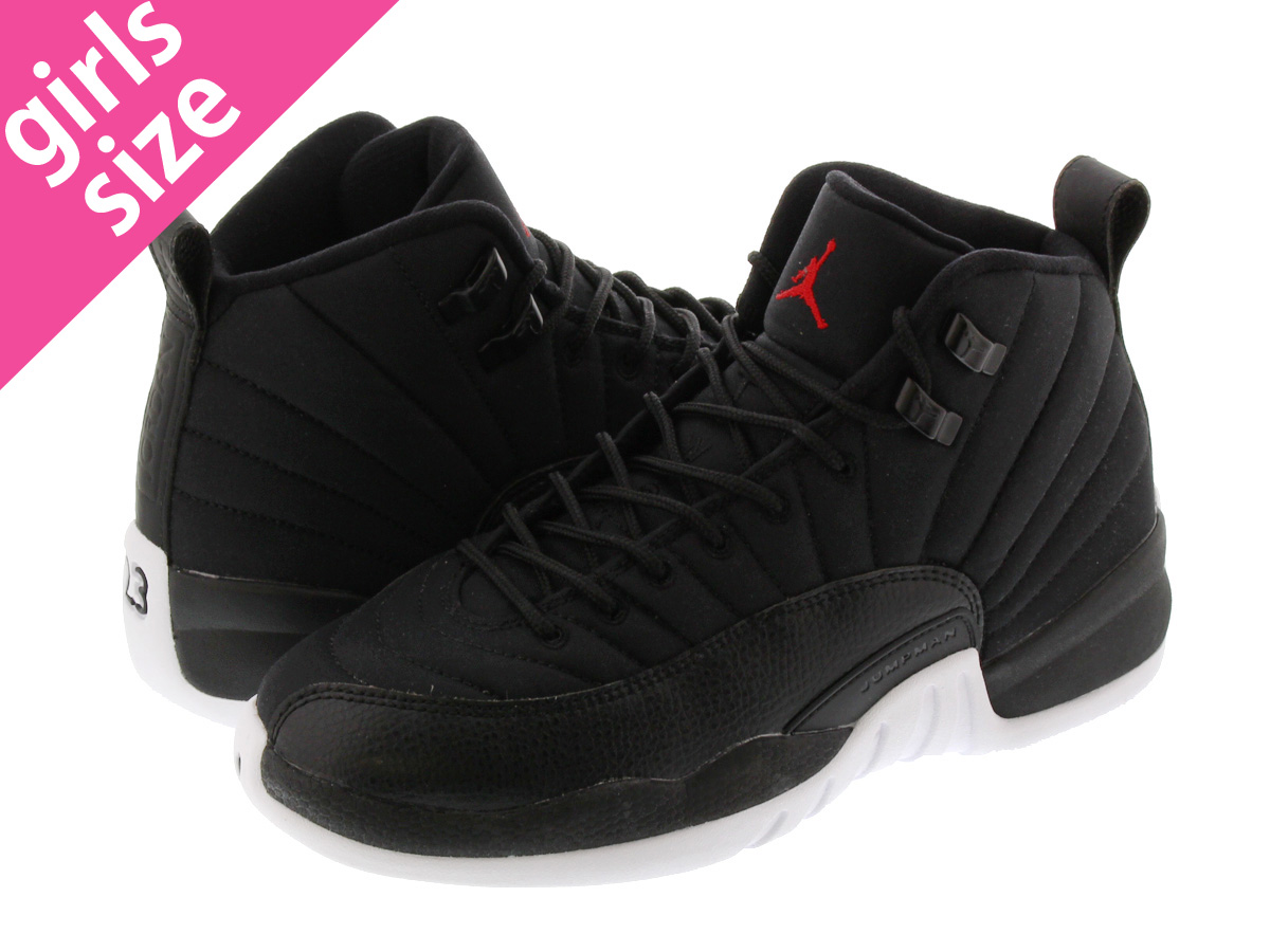 b30d1d1c0a1e9b NIKE AIR JORDAN 12 RETRO GS Nike Air Jordan 12 retro GS BLACK GYM RED WHITE