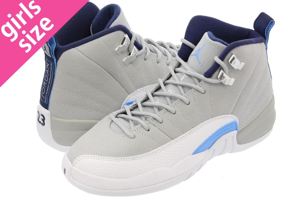 new arrivals 2f313 236a0 NIKE AIR JORDAN 12 RETRO BG Nike Air Jordan 12 nostalgic BG WOLF  GREY/WHITE/NAVY/BLUE 153,265-007