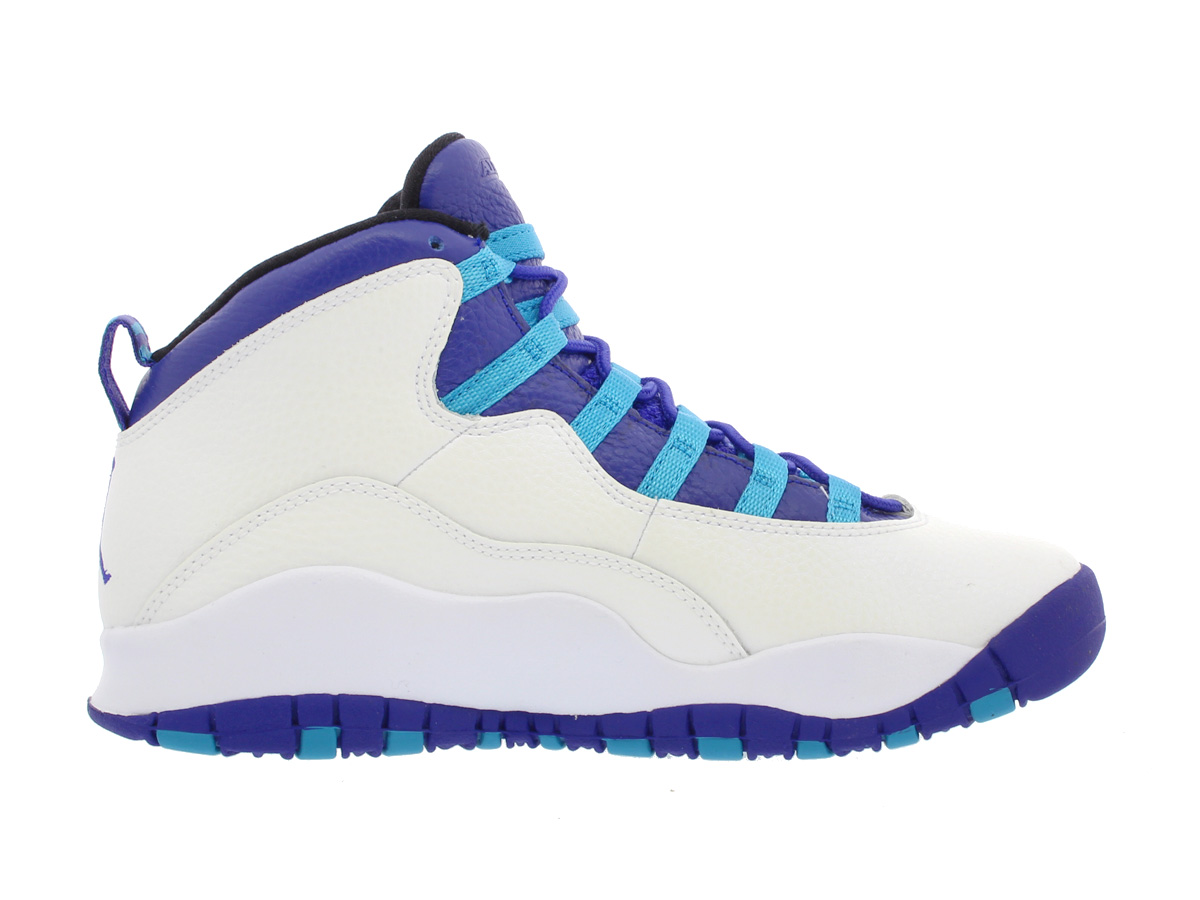 03cfc2171fe5 NIKE AIR JORDAN 10 RETRO BG Nike Air Jordan 10 nostalgic BG WHITE LIGHT  CRIMSON UNIVERSITY BLUE BLACK 310