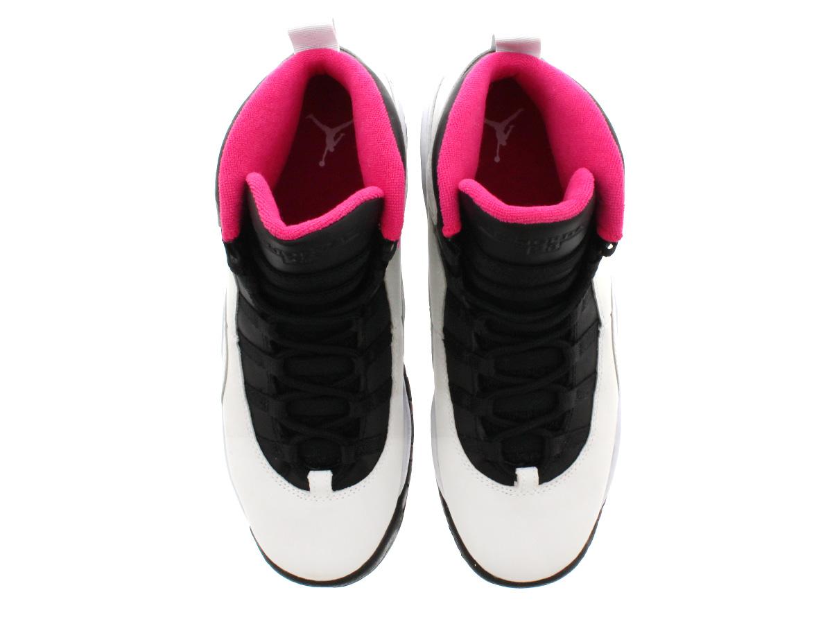 ad8ae84362680b NIKE AIR JORDAN 10 RETRO GS Nike Air Jordan 10 nostalgic GS PURE PLATINUM VIVID  PINK BLACK 487