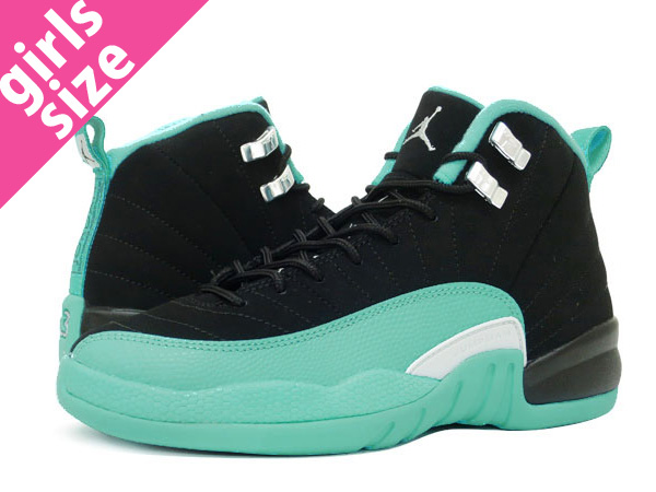 sports shoes f6e32 1d745 NIKE AIR JORDAN 12 RETRO GG Nike Air Jordan 12 retro GG BLACK METALLIC  SILVER HYPER JADE