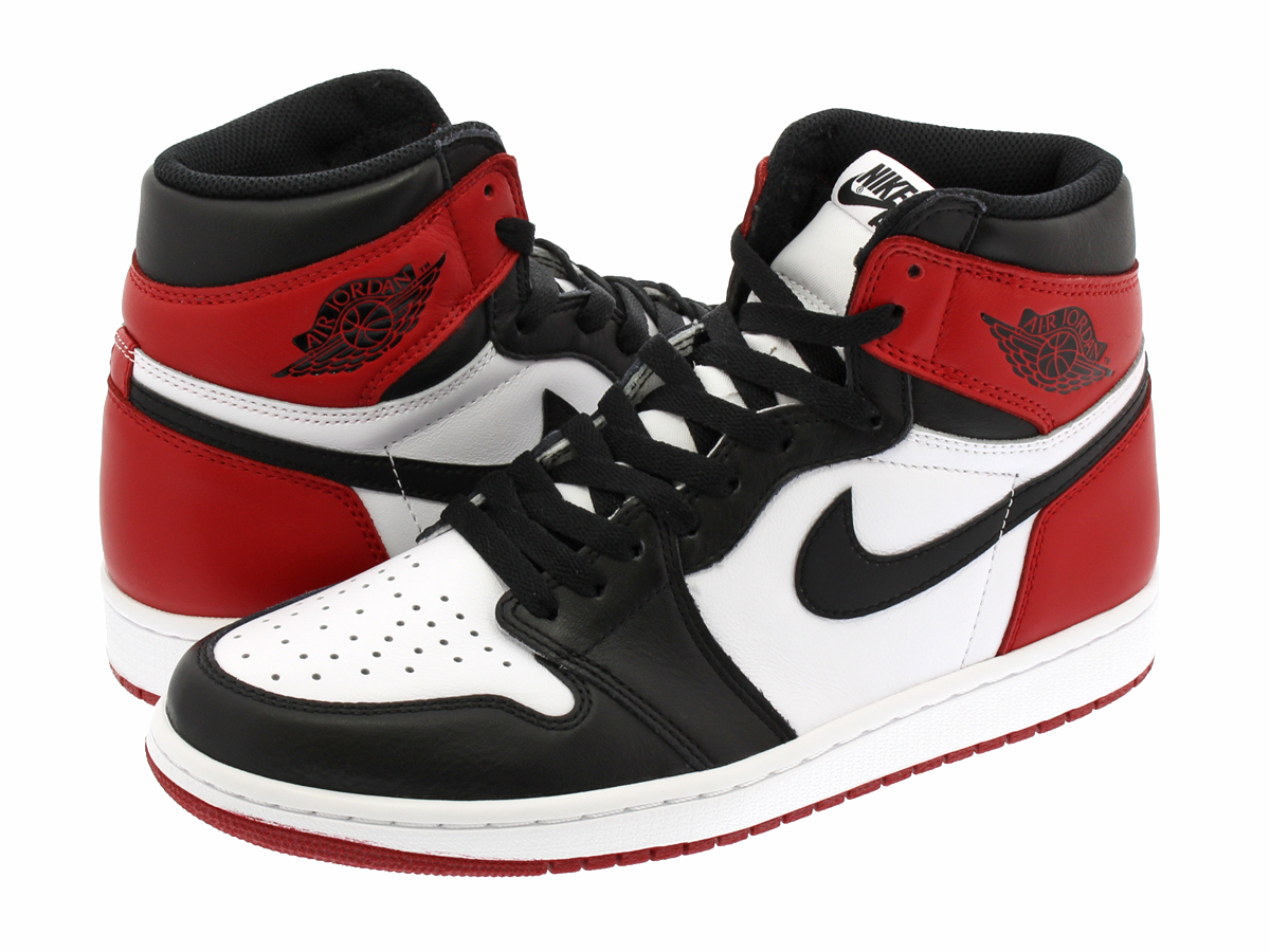 NIKE AIR JORDAN 1 RETRO HIGH OG Nike Air Jordan 1 retro Hi OG WHITE BLACK VARSITY  RED 35ff6a976