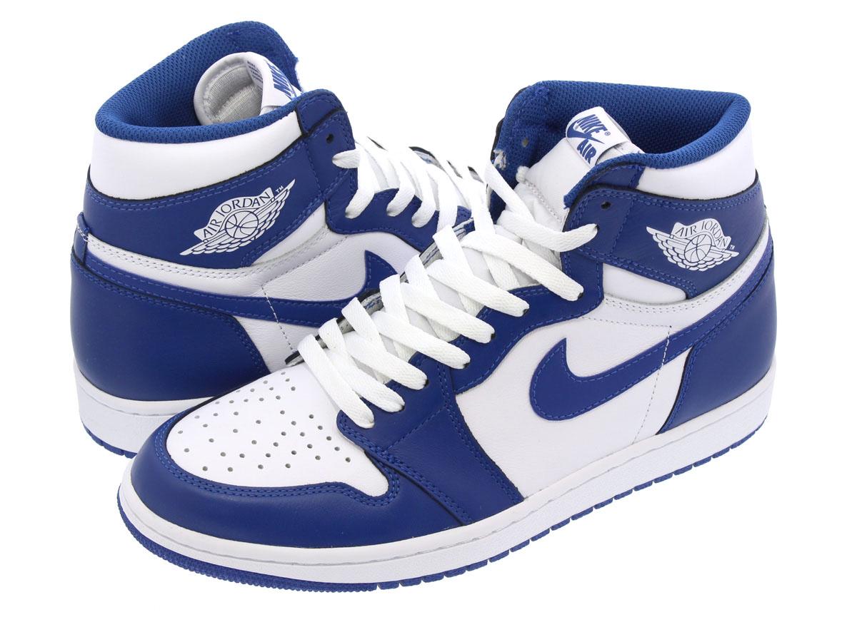 e838191592df NIKE AIR JORDAN 1 RETRO HIGH OG Nike Air Jordan 1 nostalgic high OG WHITE STORM  BLUE