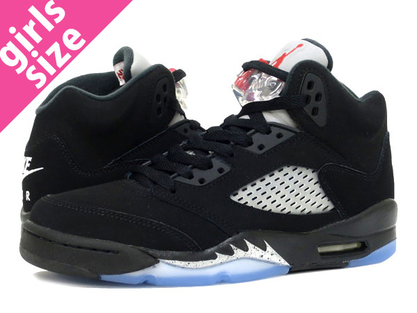 hot sale online a02af b66b6 NIKE AIR JORDAN 5 RETRO OG BG Nike Air Jordan 5 nostalgic OG BG BLACK FIRE  RED METALLIC SILVER 845,036-003