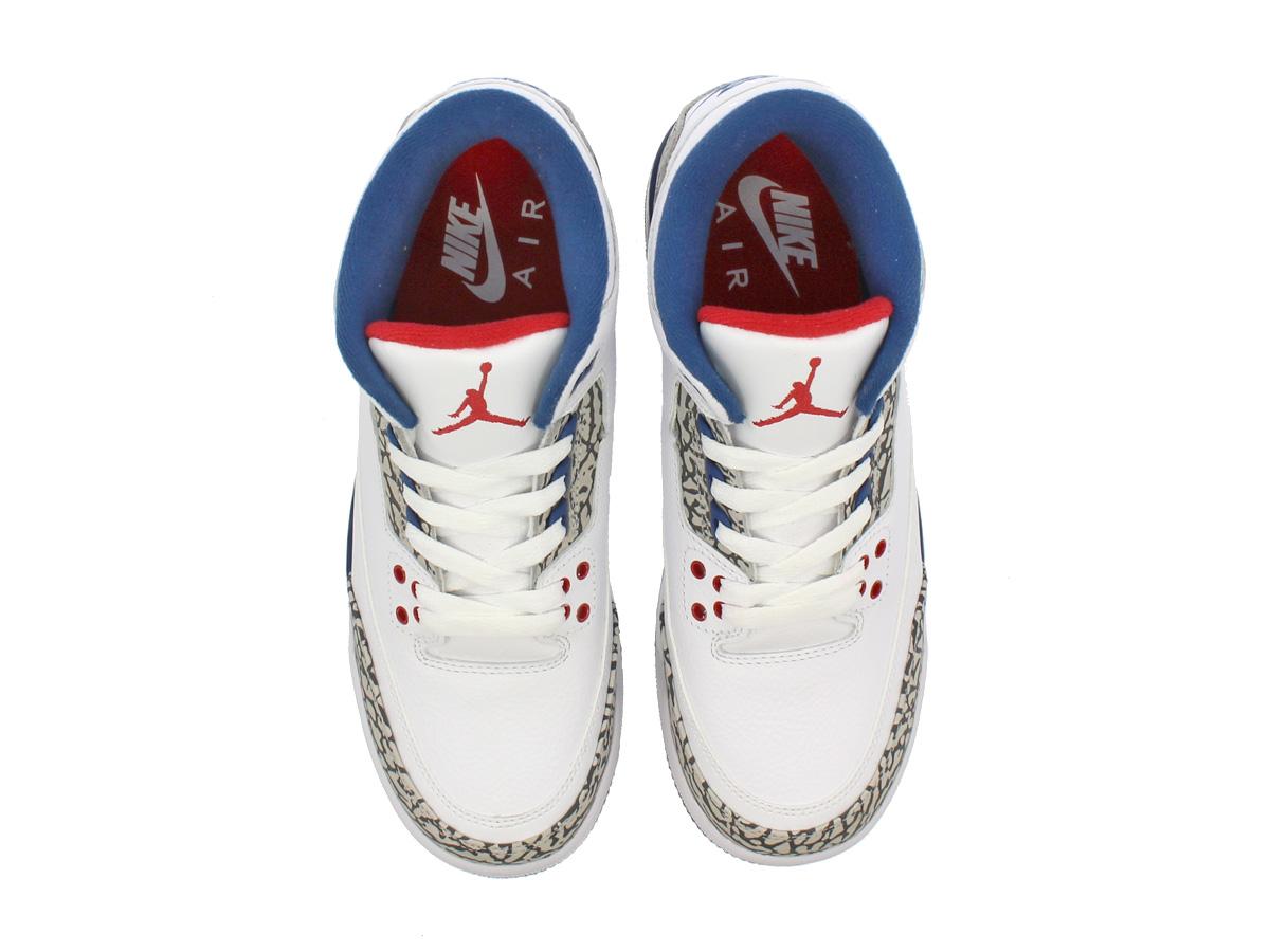 6b8a7c477f766f NIKE AIR JORDAN 3 RETRO OG BG Nike Air Jordan 3 nostalgic OG BG WHITE FIRE  RED TRUE BLUE CEMENT GREY 854