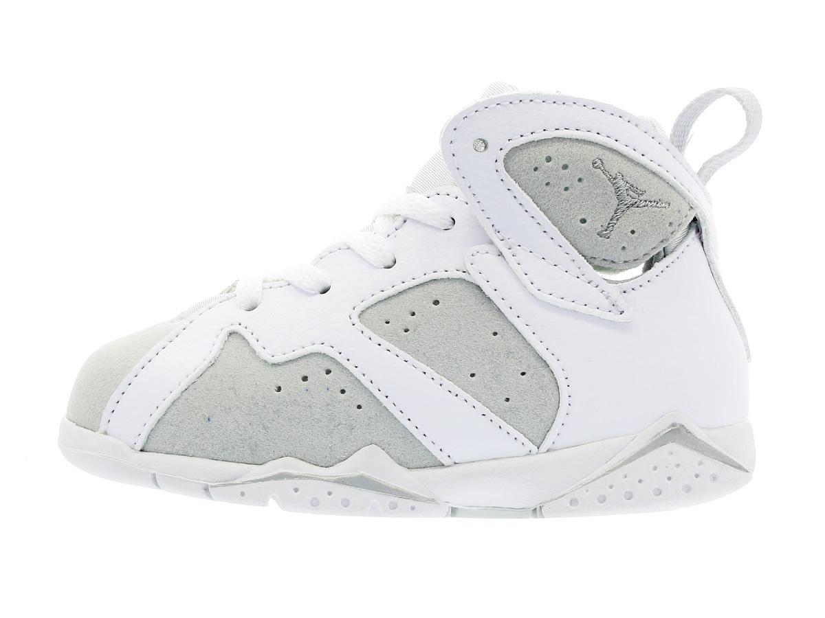 a440cbd6531 ... NIKE AIR JORDAN 7 RETRO BT Nike Air Jordan 7 nostalgic BT WHITE/METALLIC  SILVER ...