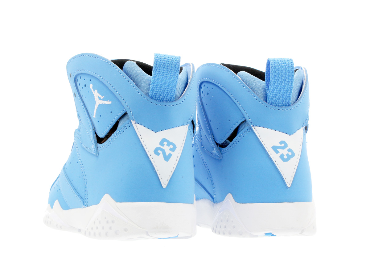NIKE AIR JORDAN 7 RETRO BP Nike Air Jordan 7 nostalgic BP UNIVERSITY  BLUE WHITE BLACK 304 f9a38e46a