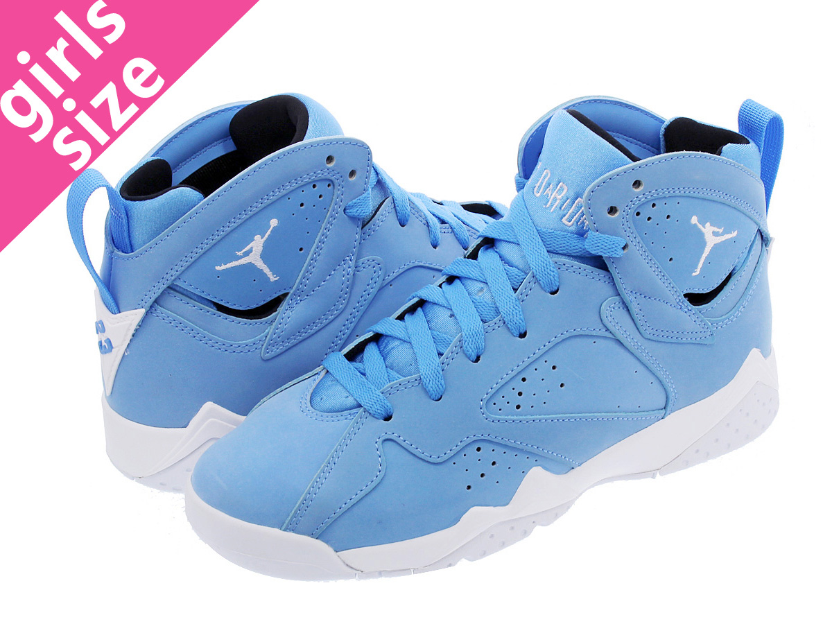 the best attitude 05df3 25a80 NIKE AIR JORDAN 7 RETRO BG Nike Air Jordan 7 nostalgic BG UNIVERSITY BLUE  WHITE ...