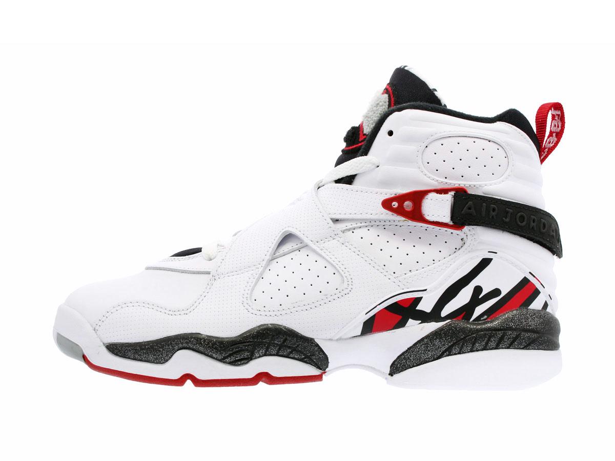 d712520b17c5db NIKE AIR JORDAN 8 RETRO BG Nike Air Jordan 8 nostalgic BG WHITE GYM RED  BLACK WOLF GREY