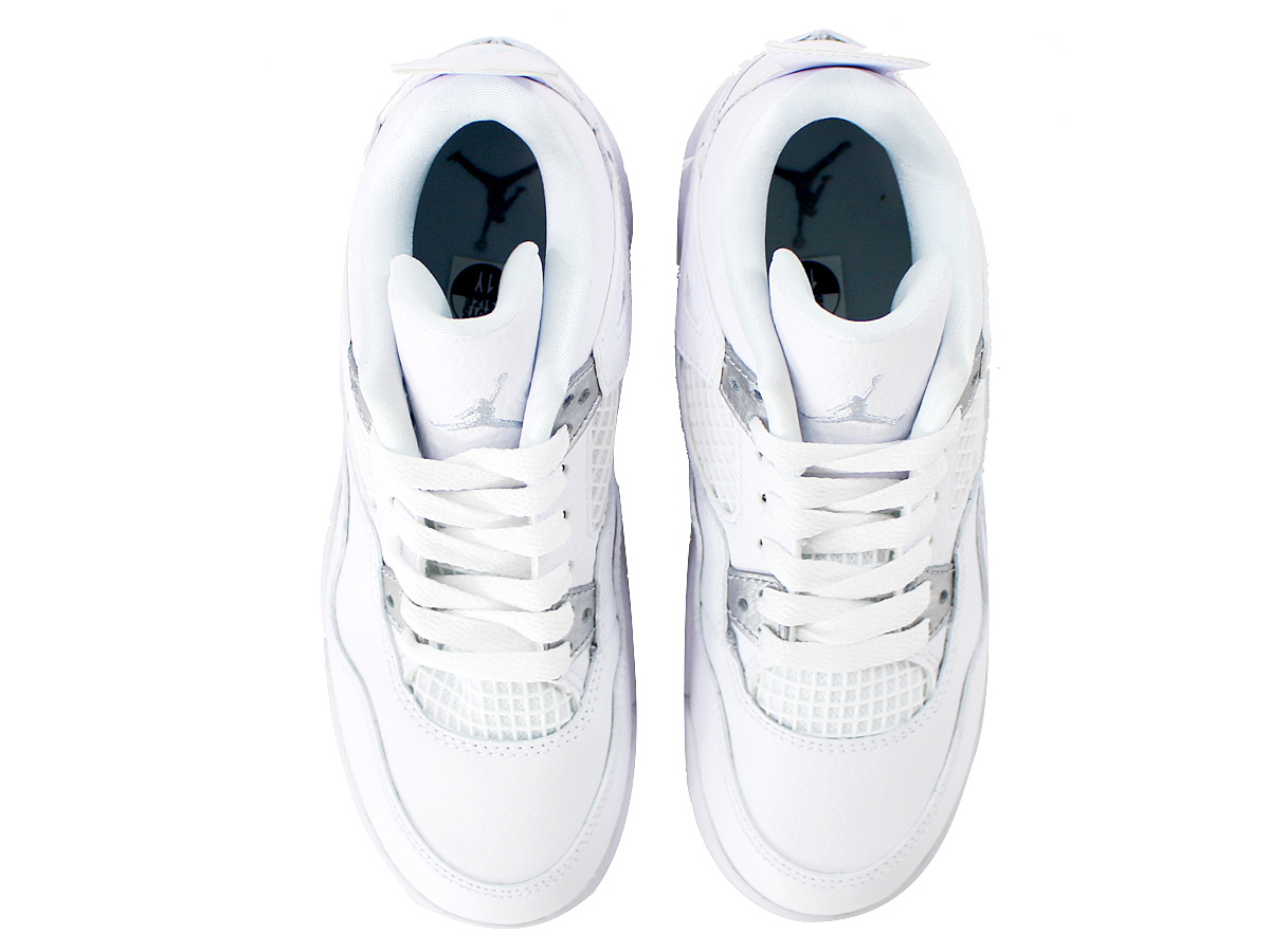 e0d6482532b698 NIKE AIR JORDAN 4 RETRO BP Nike Air Jordan 4 nostalgic BP WHITE METALLIC  SILVER PURE PLATINUM 308