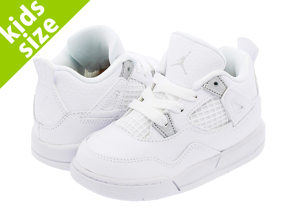 24b927056538d3 NIKE AIR JORDAN 4 RETRO TD Nike Air Jordan 4 nostalgic TD WHITE METALLIC  SILVER PURE PLATINUM 308