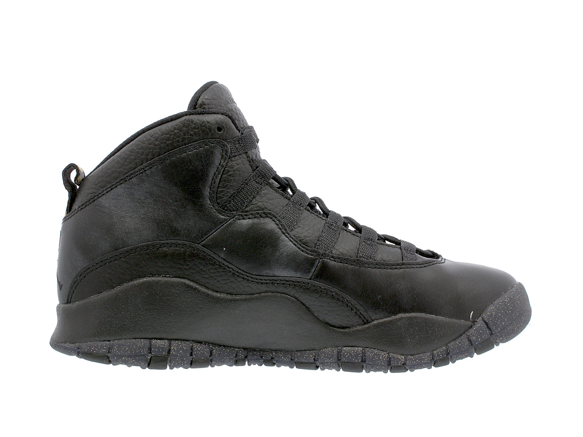 new arrival 1e4dc 20b03 NIKE AIR JORDAN 10 RETRO BG Nike Air Jordan 10 nostalgic BG BLACK DARK GREY METALLIC  GOLD 310,806-012