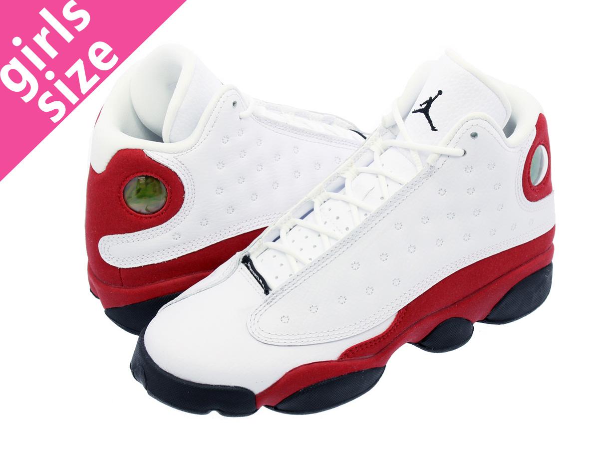 57d26b69b184 LOWTEX BIG-SMALL SHOP  NIKE AIR JORDAN 13 RETRO BG Nike Air Jordan 13  nostalgic BG WHITE BLACK TEAM RED