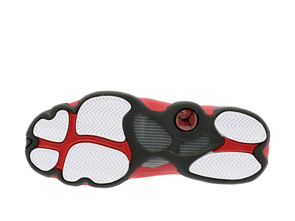731a1eb2ee789b NIKE AIR JORDAN 13 RETRO BG Nike Air Jordan 13 nostalgic BG WHITE BLACK TEAM  RED