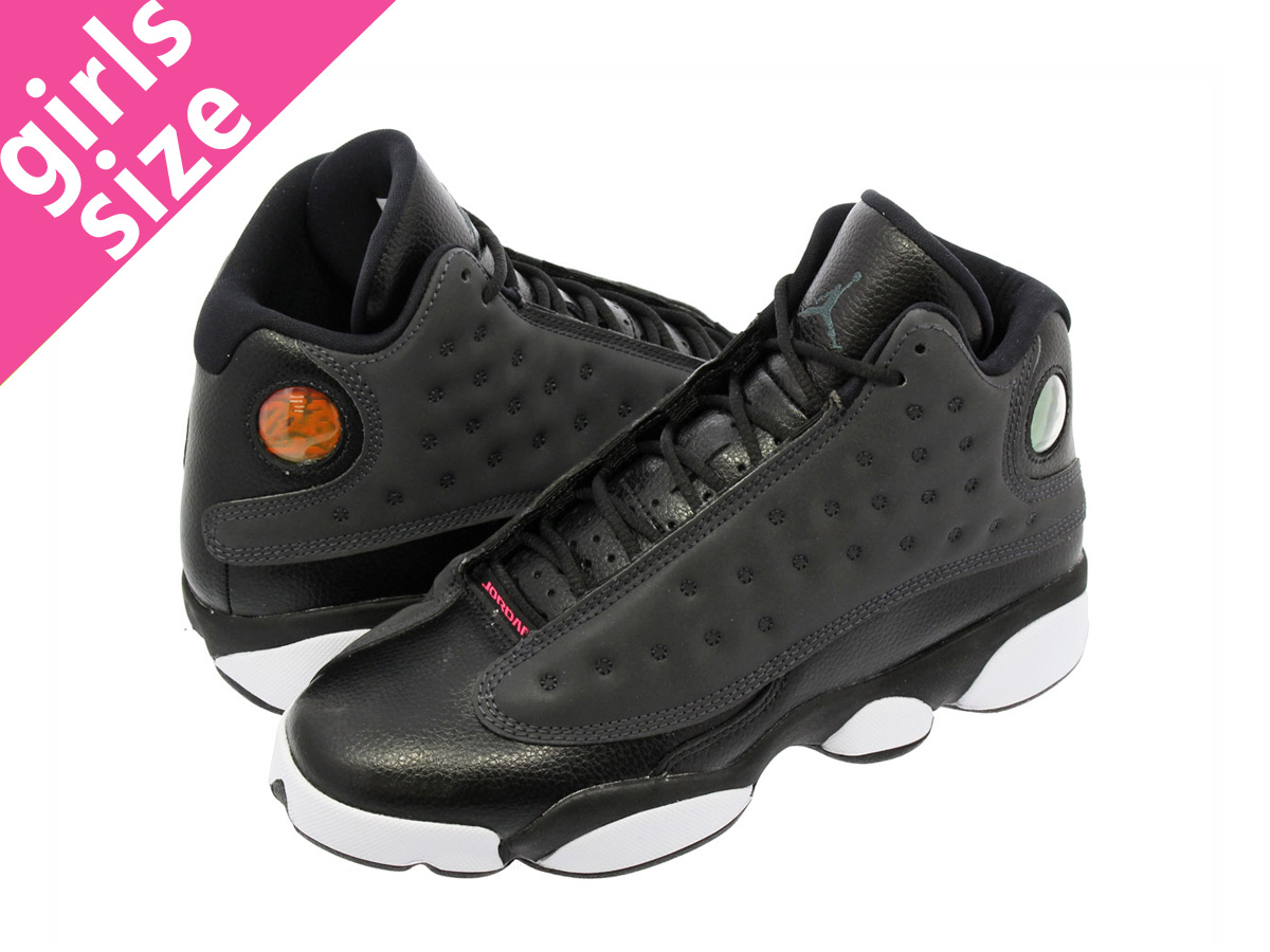 online store 4da08 38f18 NIKE AIR JORDAN 13 RETRO GG Nike Air Jordan 13 nostalgic GG BLACK ANTHRACITE HYPER  PINK WHITE