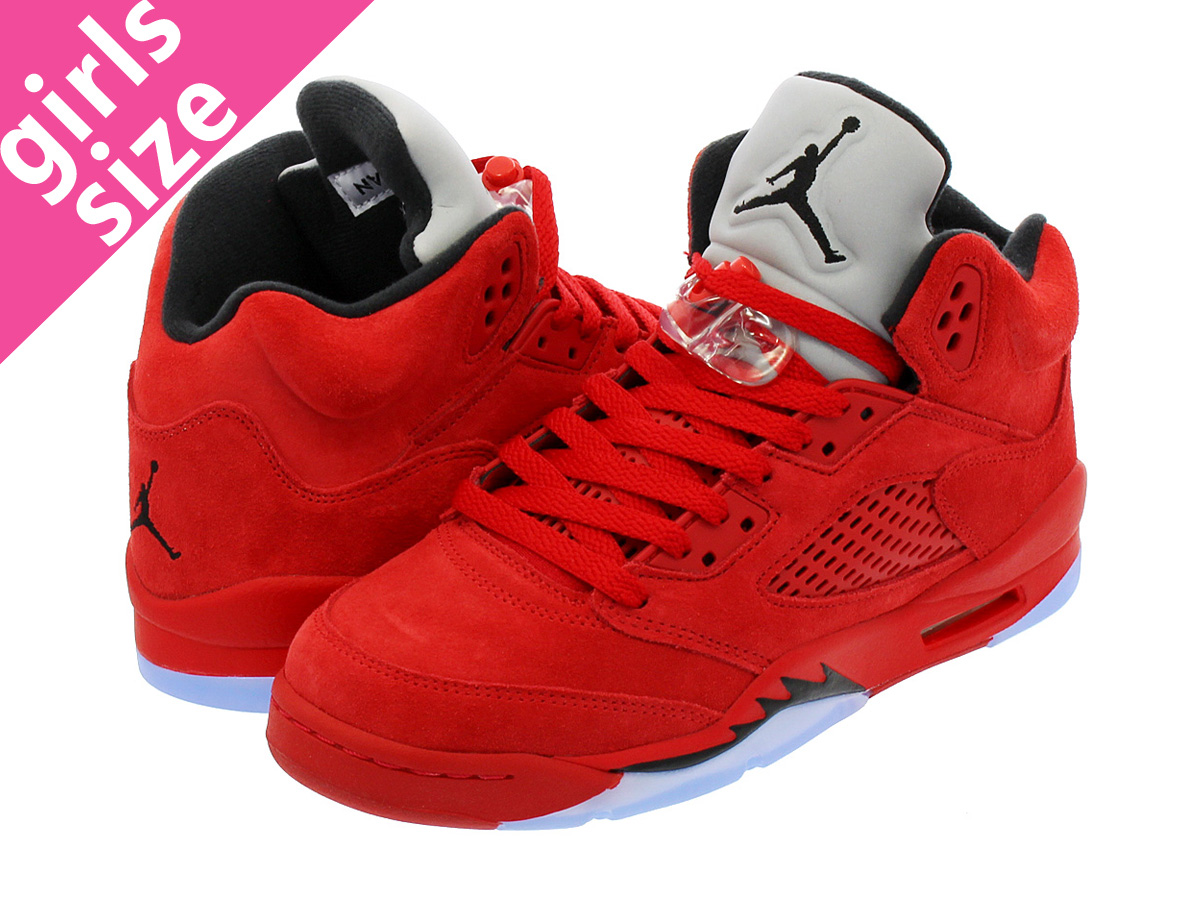 0739f699f91c1b NIKE AIR JORDAN 5 RETRO BG Nike Air Jordan 5 nostalgic BG UNIVERSITY RED BLACK UNIVERSITY  RED 440