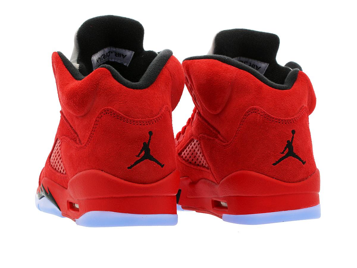 34e0518cee NIKE AIR JORDAN 5 RETRO BG Nike Air Jordan 5 nostalgic BG UNIVERSITY  RED/BLACK/UNIVERSITY RED 440,888-602
