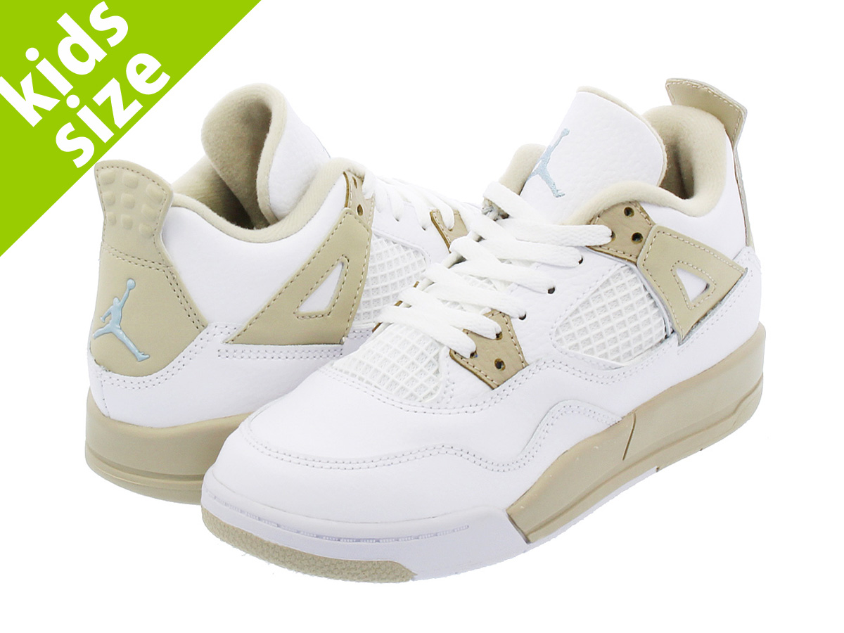 fb469a81473f NIKE AIR JORDAN 4 RETRO GP Nike Air Jordan 4 nostalgic GP WHITE BOARDER  BLUE LIGHT SAND
